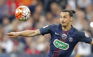 L'attaquant du PSG Zlatan Ibrahimovic le 21 mai 2016 contre l'OM.
