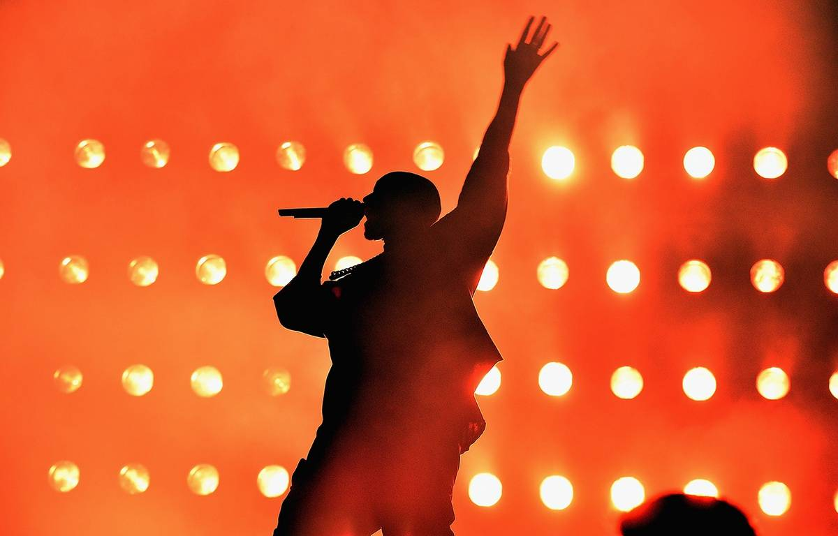 Kanye West à Las Vegas le 18 septembre 2015. – KEVIN WINTER / GETTY IMAGES NORTH AMERICA / AFP