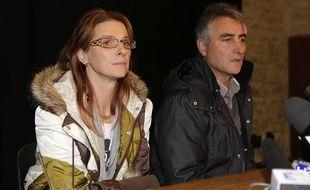 Violette et Jesus Rodriguez, les parents de Chloé, interviewés par les médias au moment de la distparition de leur fille Chloé, en novembre 2012. (Archives)