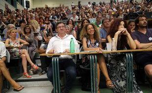 Jean-Luc Mélenchon à l'universite d'été de la France insoumise, à Marseille le 25 août 2017.