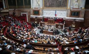 at the weekly session ( questions au gouvernement ) of the question to the government at French parliament ( assemblee nationale ) Paris, FRANCE - 10/06/2014./LCHAM_lcham001/Credit:LCHAM/SIPA/1406101712