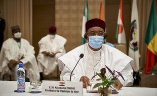 Mahamadou Issoufou, président du Niger, le 23 juillet 2020.