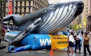 """Le Japon compte défendre """"vigoureusement"""" son programme baleinier devant la Cour Internationale de Justice onusienne à La Haye, devant laquelle il a été assigné par l'Australie, a déclaré mardi le chef de la diplomatie nippone."""