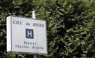 Le CHU de Rouen, le 6 août 2016 (Illustration).