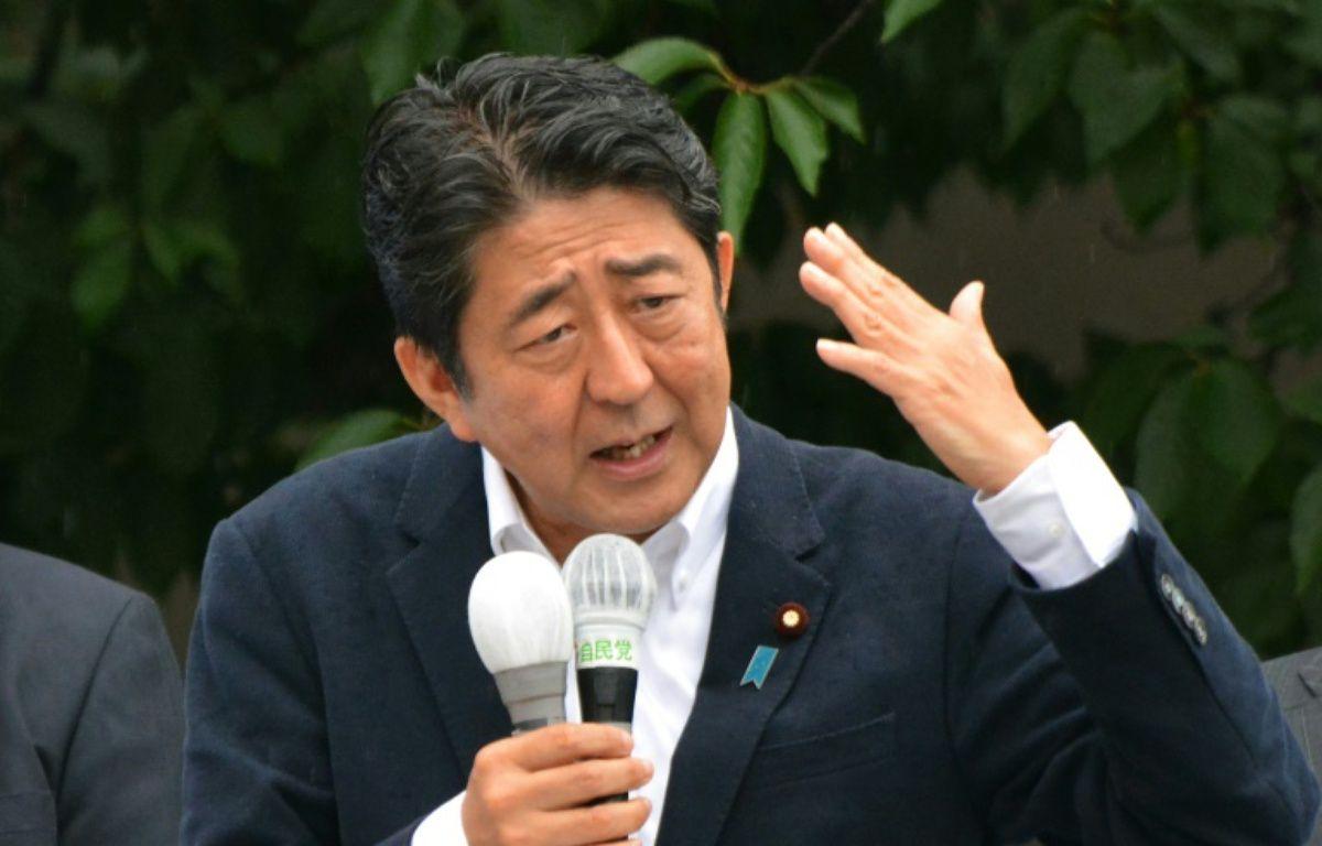 Le Premier ministre japonais Shinzo Abe le 9 juillet 2016 à Tokyo – KAZUHIRO NOGI AFP