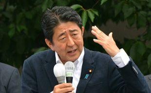 Le Premier ministre japonais Shinzo Abe le 9 juillet 2016 à Tokyo