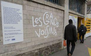 L'entrée des «Grands Voisins» dans le 14e arrondissement
