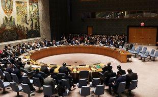 Le Conseil de sécurité de l'ONU réuni à New York, le 12 mars 2018.