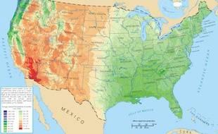 Carte des Etats-Unis.