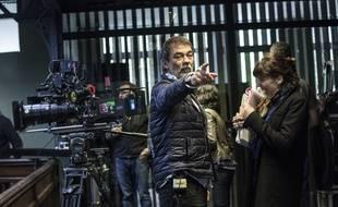 Olivier Marchal sur le tournage de «Borderline», un téléfilm qu'il a écrit et réalisé.