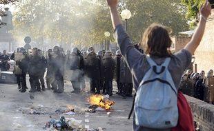 Manifestation contre les violences policières à Albi, le 27 octobre 2014, après la mort de Rémi Fraisse.