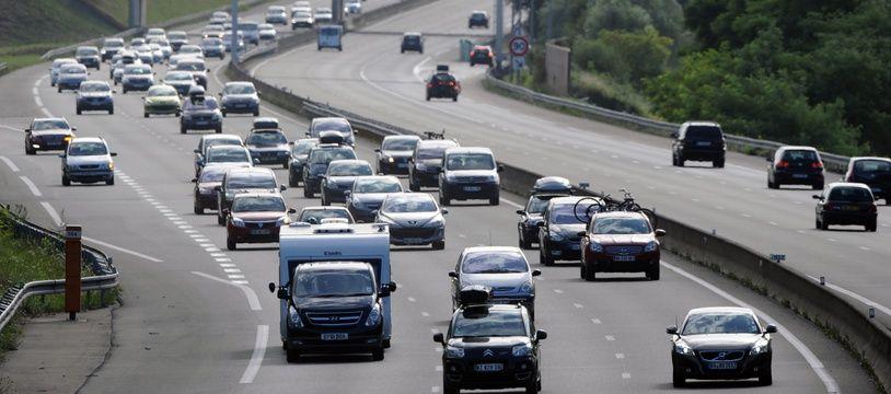 L'autoroute A11, près du Mans