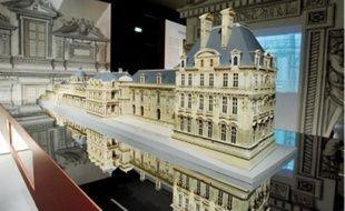 La maquette du palais des Tuileries sous Henri IV, présentée à la Cité de l'architecture.