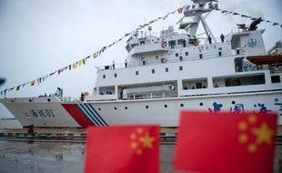 """Le bateau chinois Haixun 01, à l'origine de la détection dans l'océan Indien d'un """"signal"""" identique à ceux des boîtes noires du vol MH370, lors d'une escale à Rangoun en 2013"""