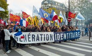 Lors d'une manifestation de Génération Identitaire (illustration)