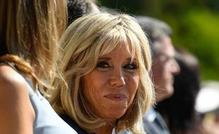 Brigitte Macron, le 25/08/2017. AFP PHOTO / Bertrand GUAY