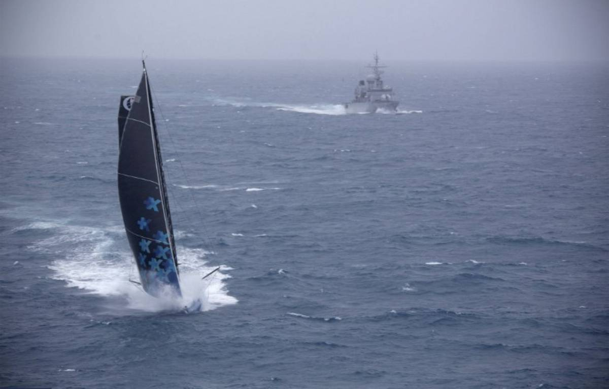 Une photo prise par la Marine nationale sur le Vendée Globe, le 30 novembre 2016.  – MARINE NATIONALE / NEFERTITI VENDEE GLOBE / AFP