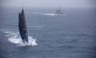 Une photo prise par la Marine nationale sur le Vendée Globe, le 30 novembre 2016.