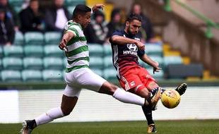 Romain Del Castillo, ici lors d'un match de préparation avec l'OL en juillet contre le Celtic Glasgow, avant son prêt au Nîmes Olympique.