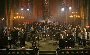 Les artistes de l'église Saint-Blandine, située à Confluence, sortiront leur premier album ensemble pour Pâques 2015.