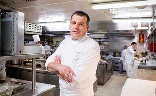 Christophe Raoux, le chef des cuisines du palace InterContinental Paris Le Grand, le 4 juin 2013.