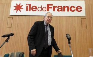 Jean-Paul Huchon, président PS de l'Ile-de-France, le 12 décembre 2012