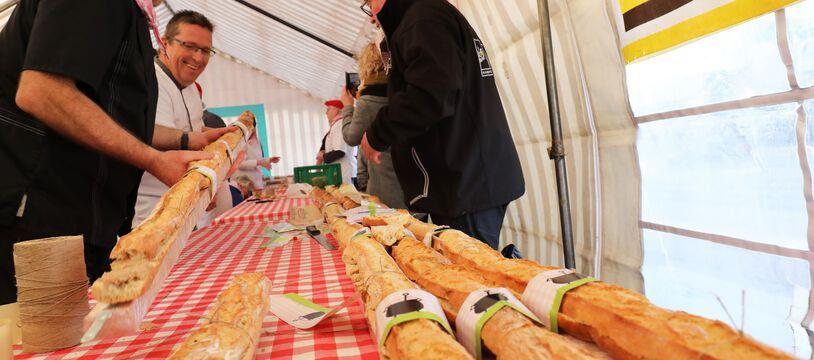 Lors du concours du plus grand sandwich aux rillettes, en 2019 au Mans (illustration)