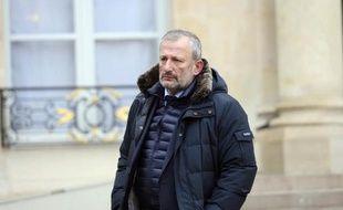 Le maire de Sarcelles, François Pupponi, le 29 janvier 2015 à l'Elysée à Paris