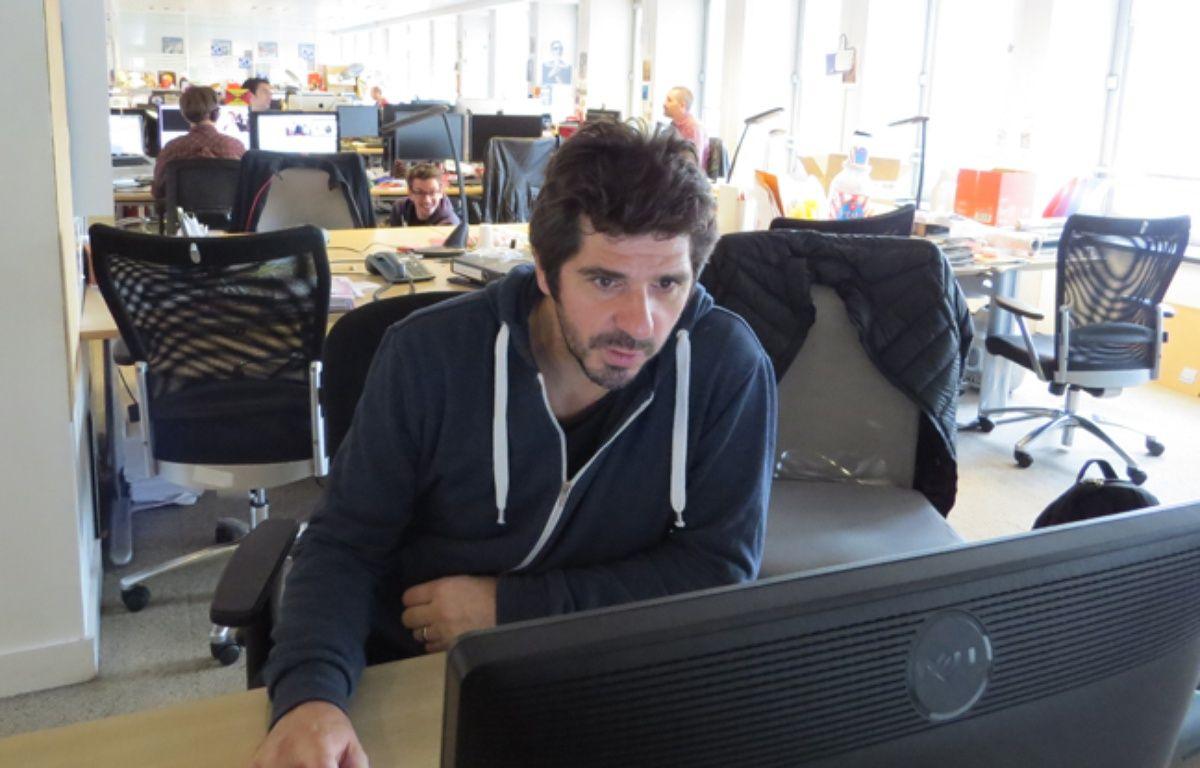 Patrick Fiori dans les locaux de 20 Minutes le 15 octobre 2014. – A. DELAUNOY / 20 MINUTES