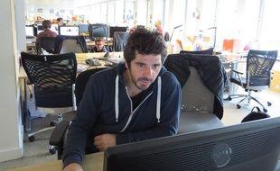 Patrick Fiori dans les locaux de 20 Minutes le 15 octobre 2014.