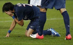 Le joueur parisien, Javier Pastore, lors de la défaite du PSG contre Rennes, le 17 novembre 2012.