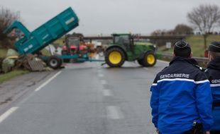 Une manifestation agricole. Illustration.