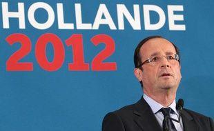François Hollande durant sa conférence à Pessac, le 4 janvier 2012.