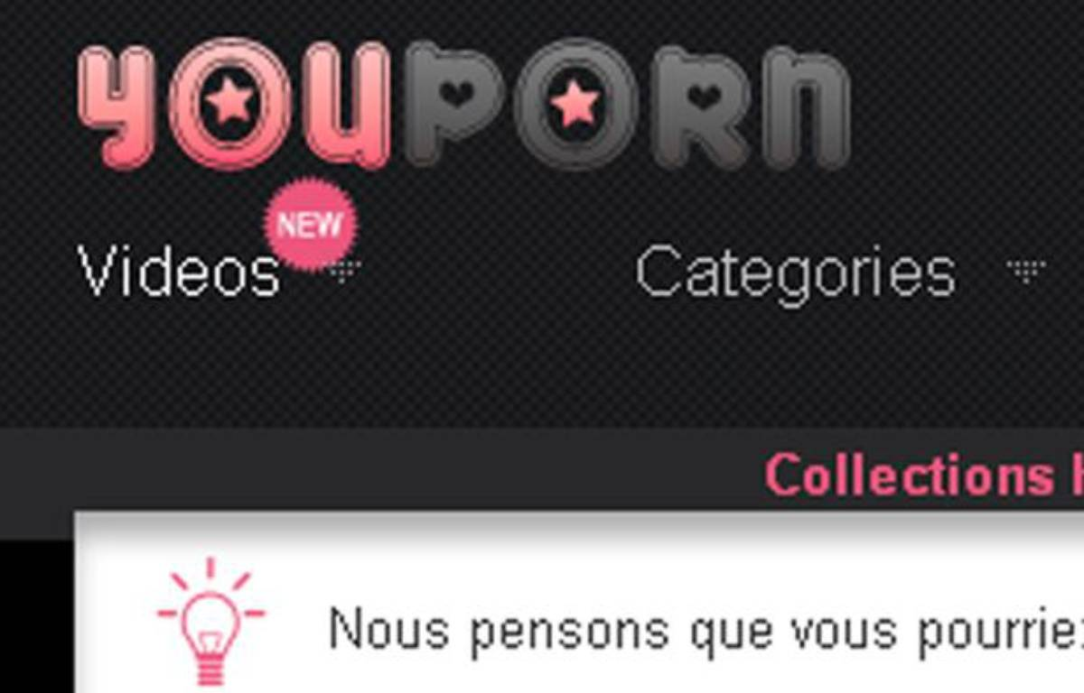Page d'accueil du site YouPorn. – DR