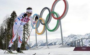 Le fondeur français Jean-Marc Gaillard, lors du 15km des Jeux olympiques de Sotchi, le 14 février 2014