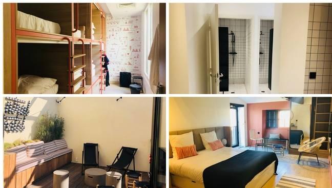 Il y a des dortoirs de six ou huit mais aussi des chambres individuelles ou encore un roof top.