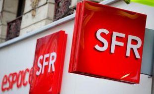 Illustration de SFR, dont la vente au groupe Altice, propriétaire de Numericable, a été décidée en avril.