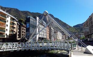 Andorre-la-Vieille, capitale de la principauté d'Andorre.