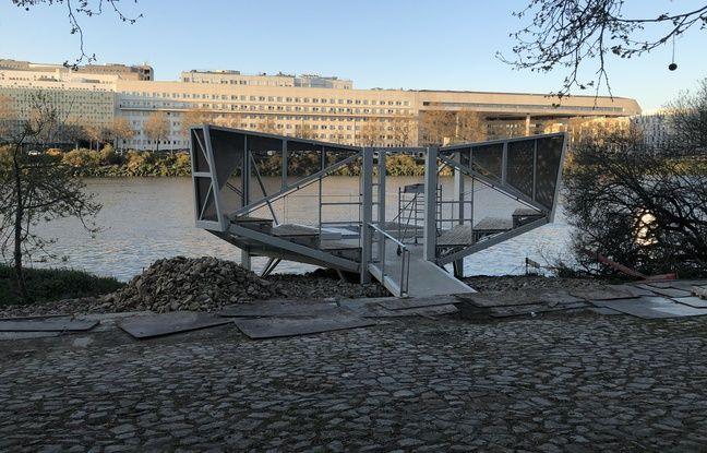 La pêcherie située en bord de Loire à Nantes