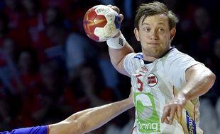 Le Norvégien Sander Sagosen, futur grande star du handball mondial.