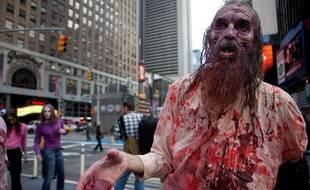 Des participants déguisés en zombie à New York, en 2010.