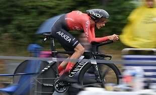 Warren Barguil lors d'un contre la montre sur le Tour de France, le 30 juin 2021 (illustration).