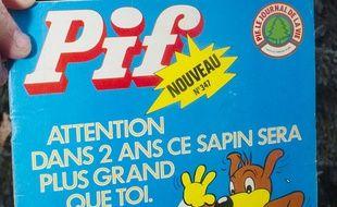 La couverture du magazine culte pour enfants «Pif Gadget».