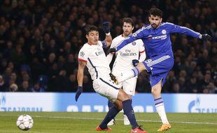 Diego Costa, auteur du but égalisateur avec Chelsea contre le Paris Saint-Germain en Ligue des champions