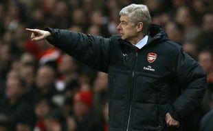 Arsène Wenger, manager d'Arsenal, le 25 janvier 2011 face à Ipswich Town