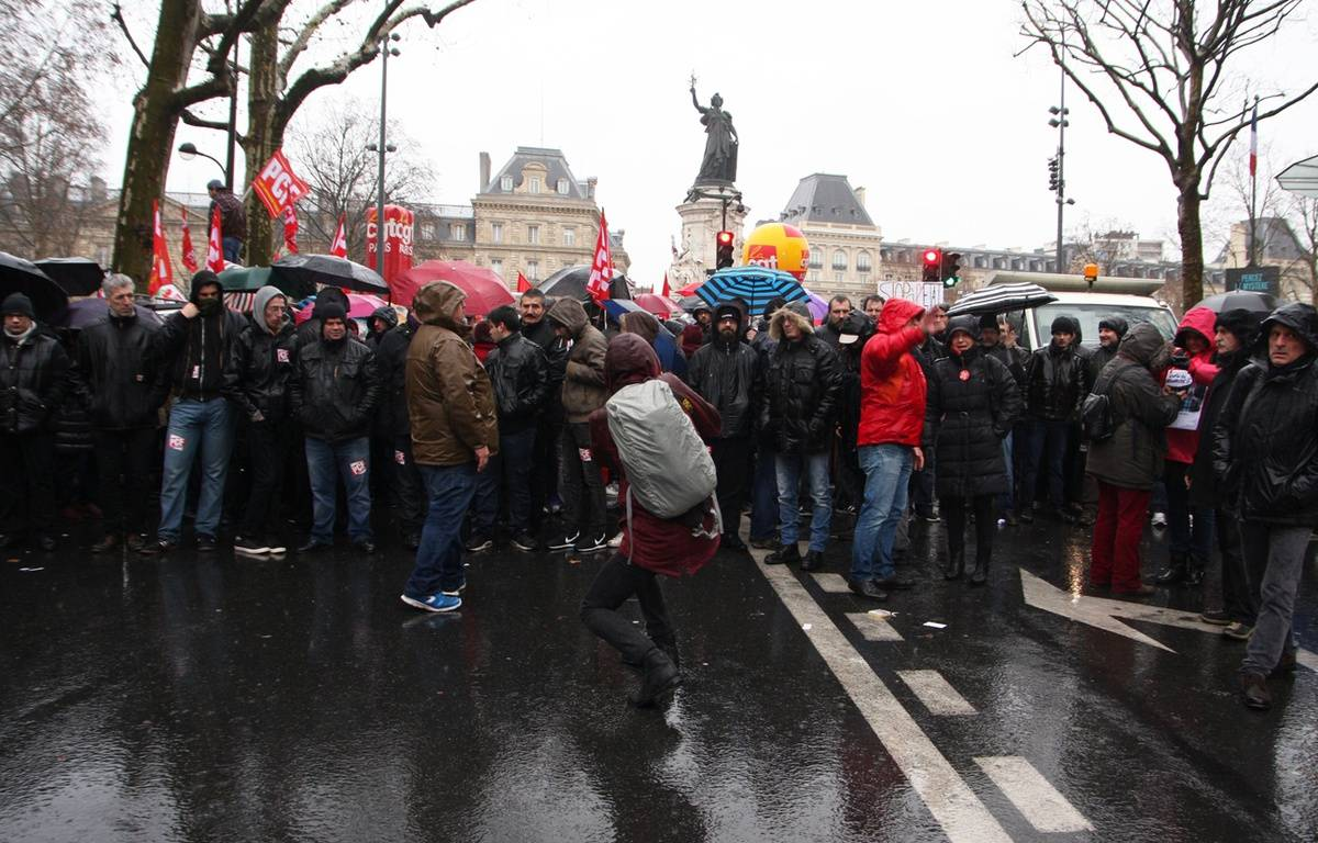 Manifestation contre l'état d'urgence samedi 30 janvier 2016 à Paris. – SEVGI/SIPA