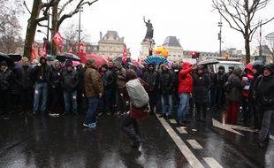 Manifestation contre l'état d'urgence samedi 30 janvier 2016 à Paris.