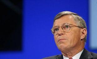 Thierry Desmarest, président du Conseil de Surveillance du groupe Total lors de l'assemblee generale des actionnaires de Total le 11 mai 2007.
