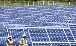 Un parc photovoltaïque installé en France (image d'illustration).