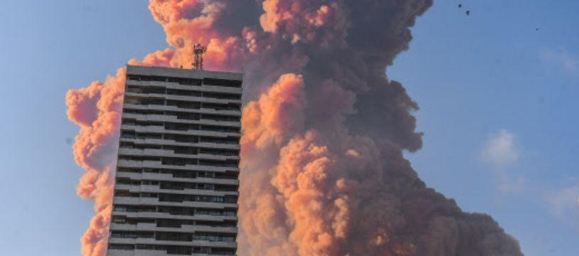 Beyrouth après la double explosion du 4 août 2020. (illustration)